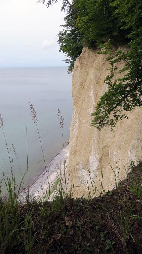 high shore trail view white cliffs