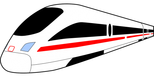 high speed train railway ice