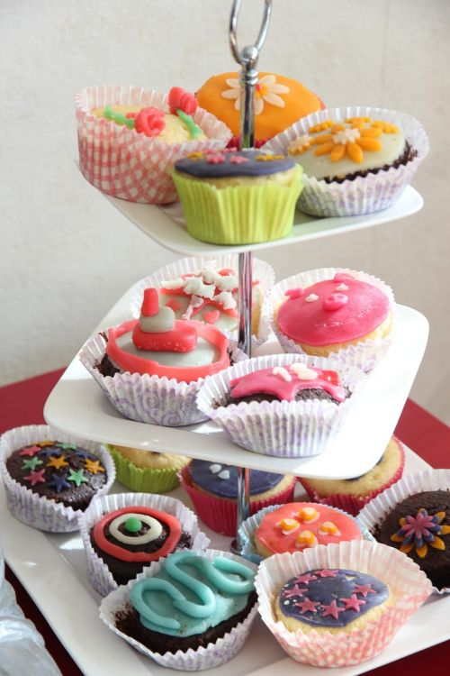 high tea cupcakes sweet