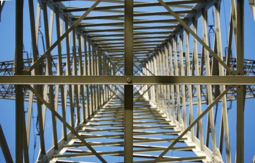 high voltage strommast power line