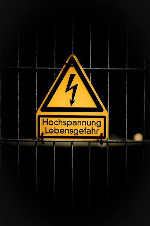 high voltage danger of death warning