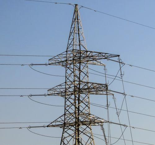 high voltage pylon electricity