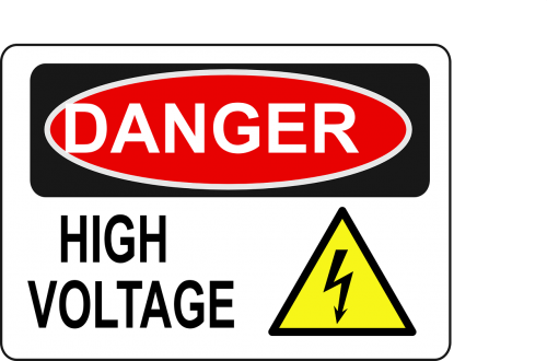 high voltage danger electric