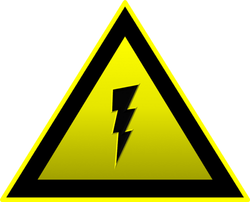 high voltage electricity attention