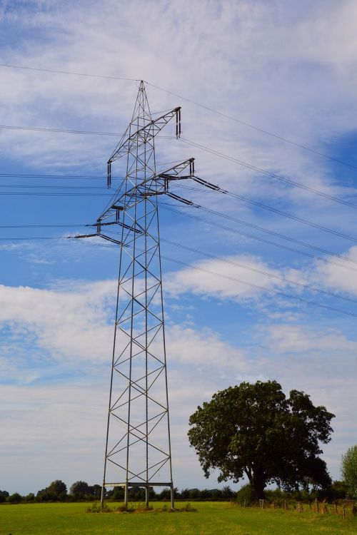 high voltage power line electricity
