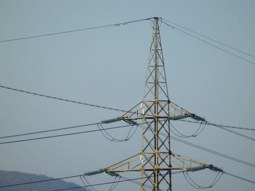 high voltage pylon wire