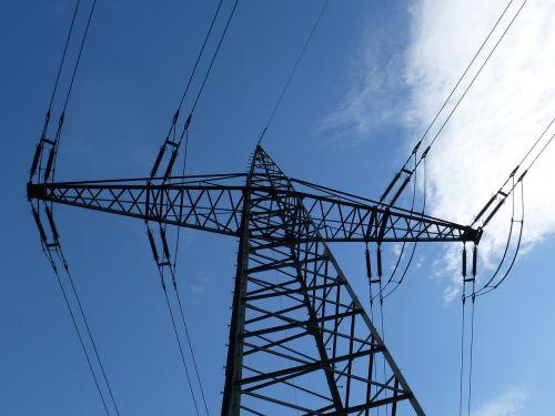 high voltage mast power lines