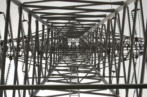 high voltage mast underside