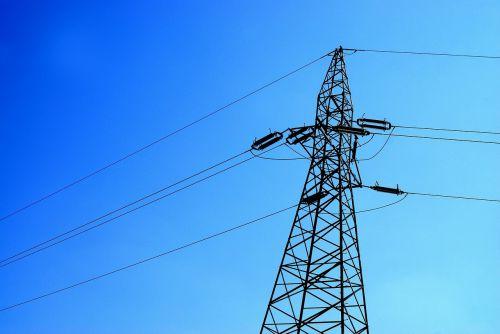 aukštosios įtampos linija,linija,įtampa,dabartinis,energija,energetikos tinklas,elektros linija,debesys,dangus,mėlynas,polių