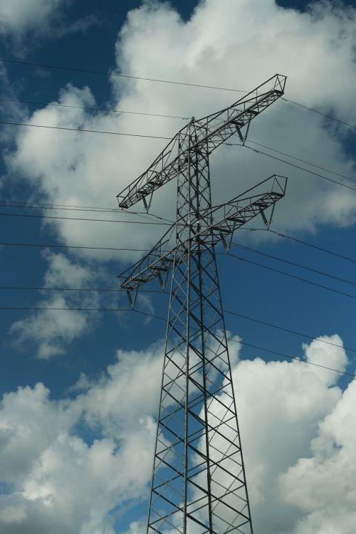 high voltage mast air wires