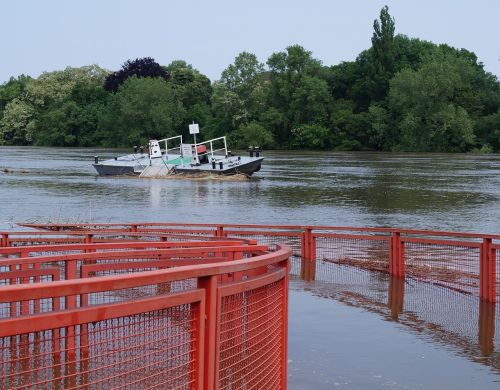 high water ferry terminal elbe