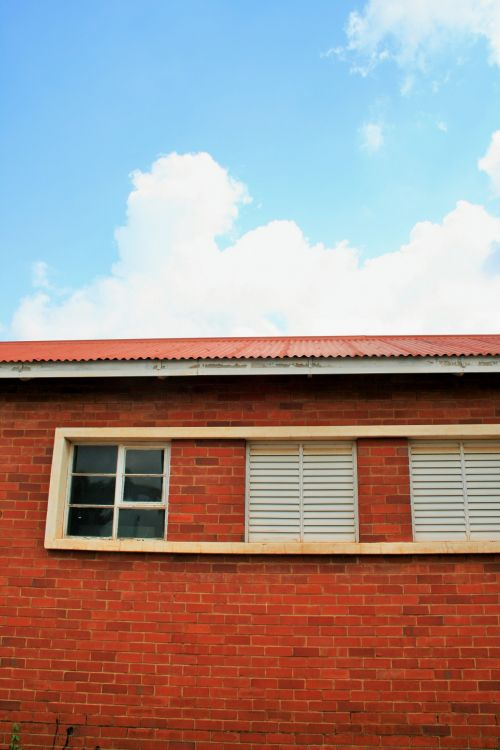High Window And Shutters