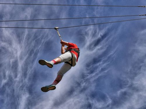 high wire conkers theme park brave girl