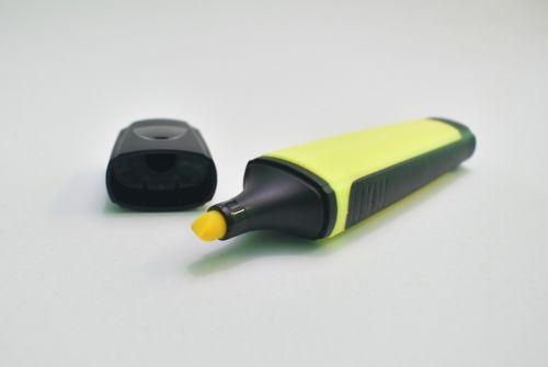 highlighter,yellow,marker,highlight,office,school,stationery,business