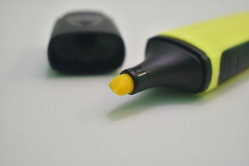 highlighter,yellow,marker,office,stationery,school,highlight,business