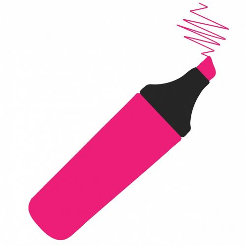 highlighter pen marker pen pink