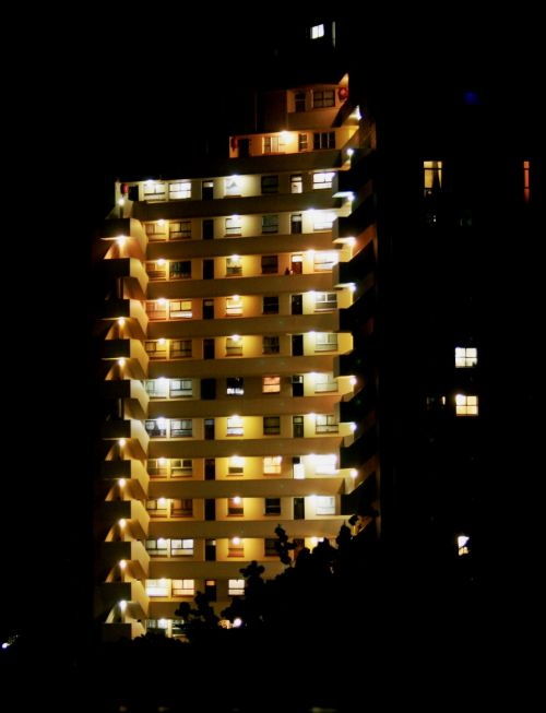 Highrise Building At Night