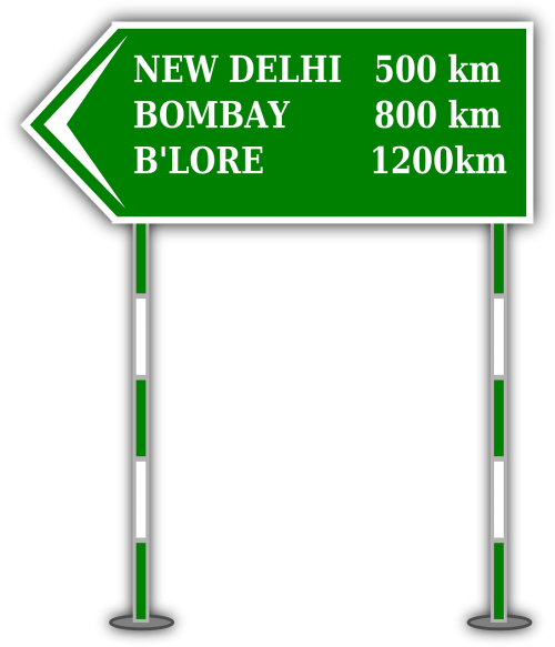 highway direction distance