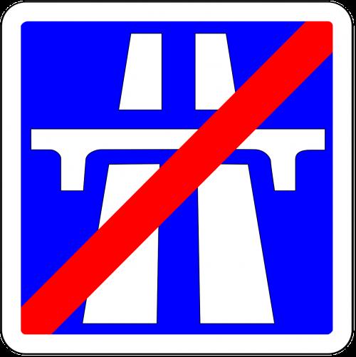 highway motorway road sign