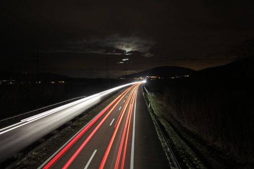 highway road lights