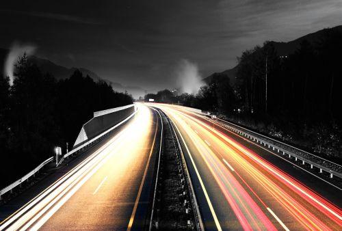 highway long exposure autos