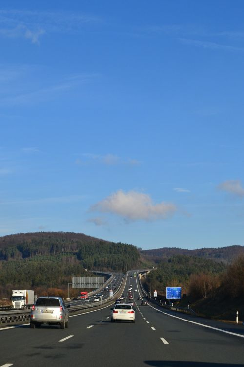 highway drive sky