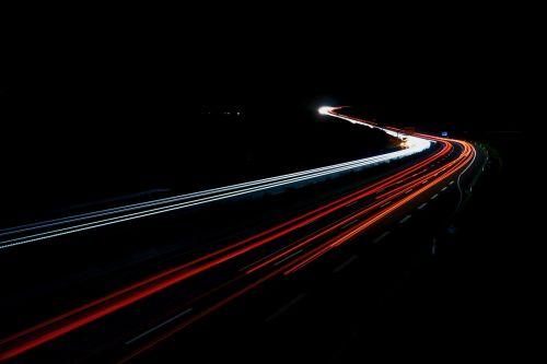 highway night long exposure