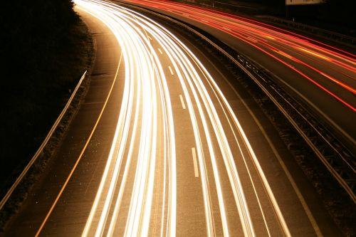highway at night long