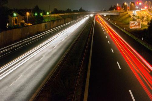 highway night traffic