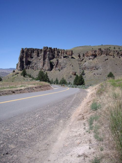highway cliff landscape