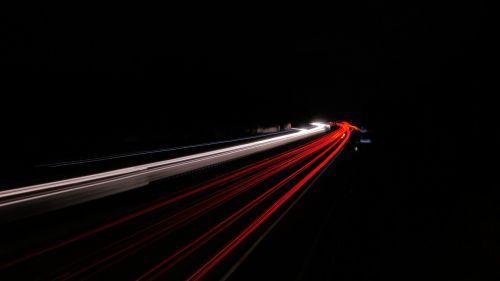 highway lights night highway