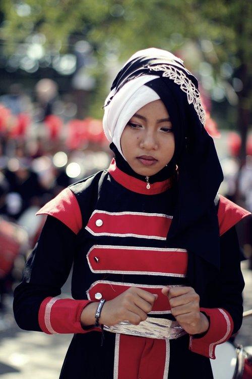 hijab  carnival  girl