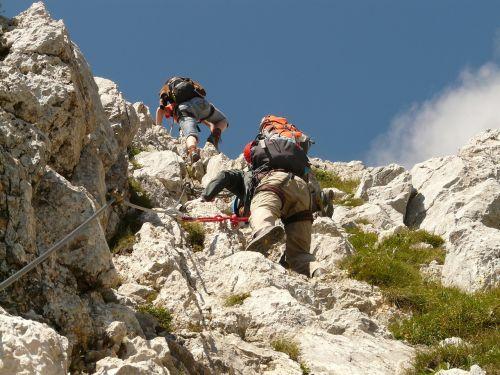 friedberger climbing red flüh hike