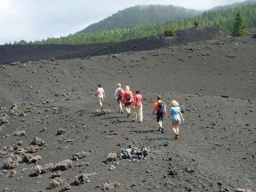 hike lunar landscape tenerife