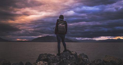 hiker hiking backpacker
