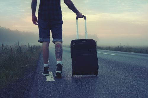 hiker traveler trip