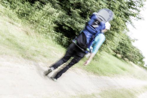 hiking run away