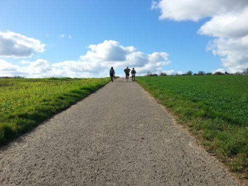 hiking walk road