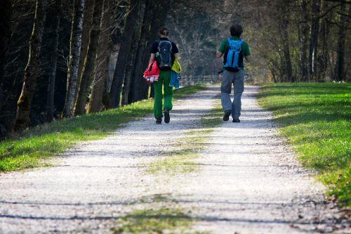 hiking away walkers