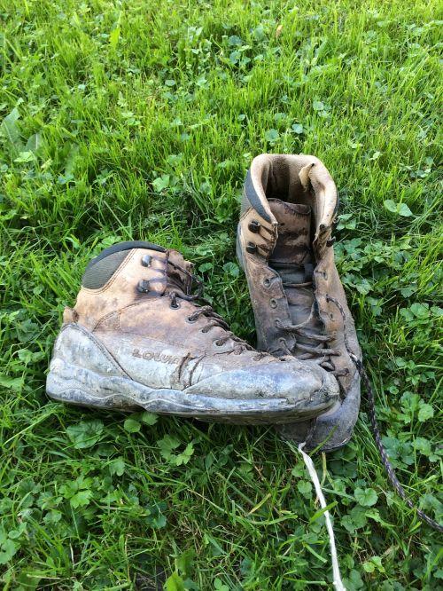 hiking hiking shoes worn