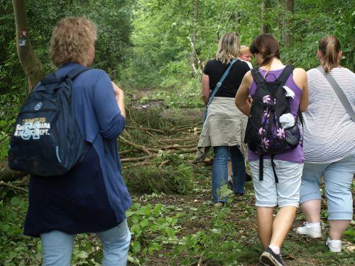 hiking wanderer group