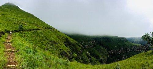 hiking  drakensberg  green