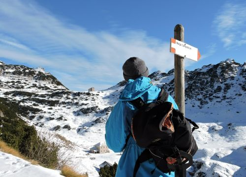 hiking man mountain