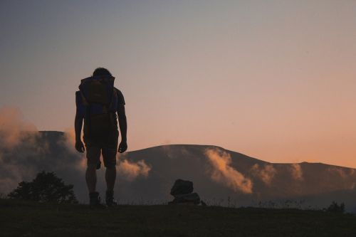 hiking hiker backpack