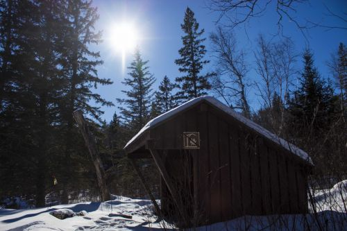 Hiking Shelter In Winter