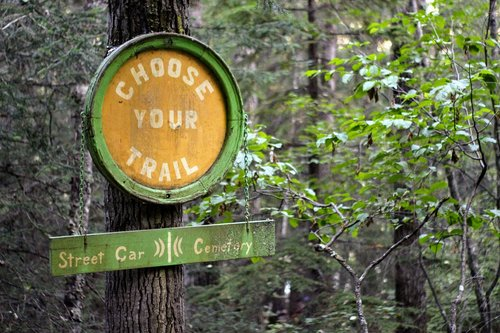hiking trail  outdoors  sign