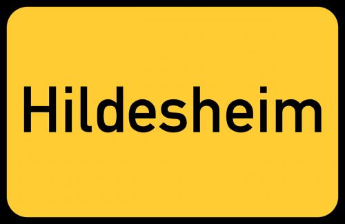 hildesheim lower saxony town sign