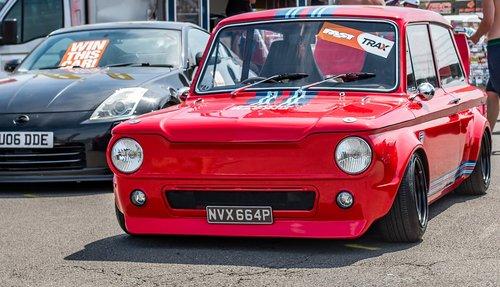 hillman imp  car  red