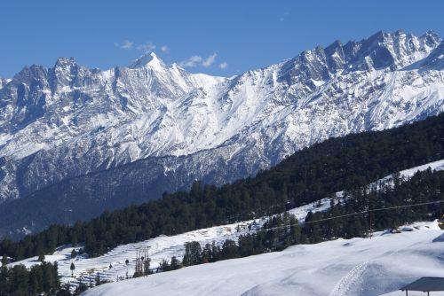 auli hills himalaya badri mountain