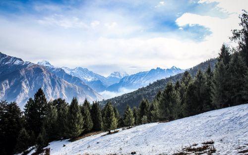 hills mountain snow